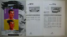 Prospectus renault Clio MTV 100% musique, 3.2000, 4 pages + 2-prix/fiches techniques