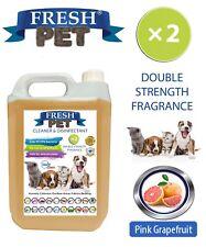 Fresh Pet Kennel Disinfectant DOUBLE STRENGTH Fragrance - 5L Pink Grapefruit