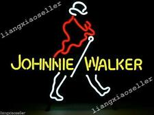 17X14 Inches Rare JOHNNIE WALKER WHISKEY REAL GLASS NEON SIGN BEER BAR PUB LIGHT