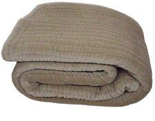 Kaison Gray Quilts Bedspreads Velvet, Cotton Coverlets Stripes (94X102 Cm)