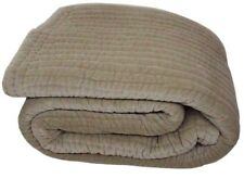 "Gray Handmade Cotton Velvet Quilt Bedspread 94x102"" 240x260 cm Home Furnishing"