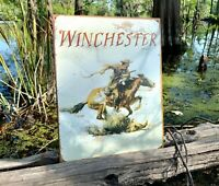 Winchester Logo Vintage Metal Tin Sign Wall Decor Garage Man Cave Home Rustic