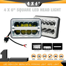 "4""x6"" Crystal Clear Sealed DRL Hi/Lo Beam E9 DOT LED Headlight For Jeep Wrangler"