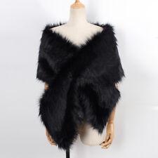 Elegant Womens Faux Fur Warm Shawl Shrug Wedding Wrap Cape Evening Winter Coat