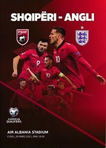 ALBANIA v England (World Cup 2022 Qualifier) 2021 - VERY RARE official programme