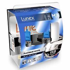 H3 Lunex Platinum White 55W 12V Lampadine Fari Alogeni 4000k Set