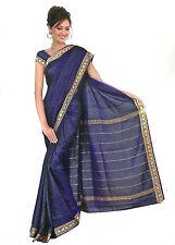 Bollywood Sari Vestido Arco Iris Azul Real