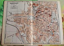 1930 the guide of the old town Montpellier department 34 France old map art prin