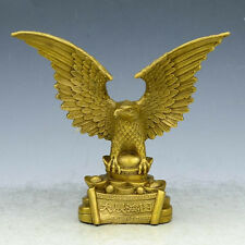 Chinese FengShui Brass Carved Evil Guard Bird King Eagle Statue