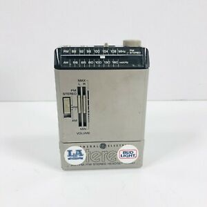Vintage General Electric Stereo AM/FM/FM Stereo Headset Radio Model No. 7-1000A
