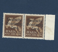 ZARA BESETZUNG ITALY GERMANY OCC. 50C MI. #23 STAMPS UNUSED OG PAIR WITH TAB