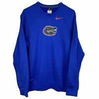 Florida Gators Nike Therma-Fit Pullover Sweatshirt Men's Medium Blue Logo
