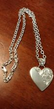 "Beautiful Elk Creek Mexico Sterling Heart 19"" Necklace"