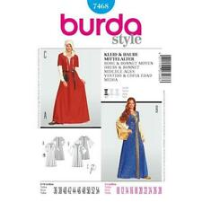 Burda Sewing Pattern 7468 Bonnet Middle Ages Sleeves Dress Size 34-50 Uncut New