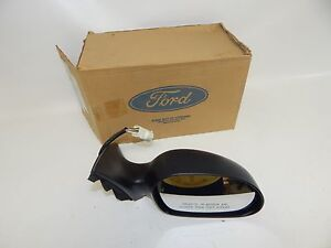 New Oem 96-99 Ford Mercury Front Right Power Side Mirror Rear View Primed Heated