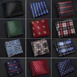 1 Pc Men's Handkerchief Polka Dot Striped Floral Printed Hankies Business Pocket