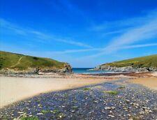 A3 Framed Photo Print. Polly Joke Beach, Cornwall. Porth Joke. Framed/Unframed