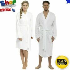 Unisex Hotel Spa Waffle Bath Robe 100% Cotton Dressing Gown Bathrobe Sleepwear