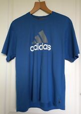 Mens Blue Adidas Logo T-Shirt UK L