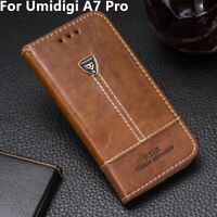 For Umidigi A7 Pro Phone Case Flip PU Leather Cover Book Stand Wallet CARD Slots