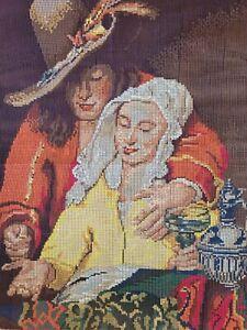 Tapestry needlepoint canvas The procuress Jan Vermeer die kupplerin