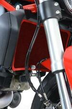 R&G RED RADIATOR GUARD for DUCATI MONSTER 821, 2014 to 2018
