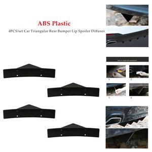 4×Universal Car Rear Bumper Lip Spoiler Diffuser Anti-collision Trim Deflector