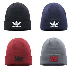 Adidas Men Knitted TREFOIL LOGO Beanie Warm Winter Comfortable Hat Cap BNWT