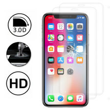 "2x Cristal Blindado Apple Iphone X 5.8 """"/ 10 Lámina Protectora Completo Borde"