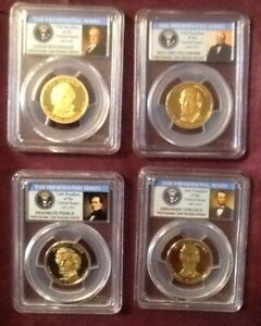 2010 S Presidential Dollar Set PCGS PR69DCAM 4 COIN SET