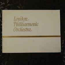 concert programme LPO josef krips , rudolf firkusny 1969