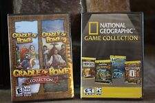 NATIONAL GEOGRAPHIC GAME COLLECTION & CRADLE OF ROME 1-2 COLLECTION PC CD ROM