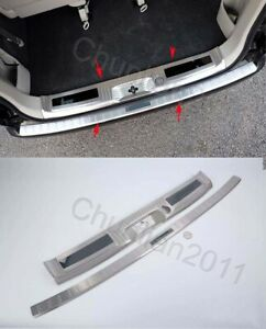 inner Outer Rear Bumper Trim Protector door Sill Plate Cover For Nissan NV200 2P