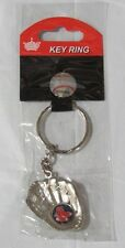 MLB Chrome Glove With 2 Sock Logo in Palm Key Chain Boston Red Sox AMINCO