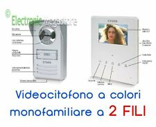 VIDEOCITOFONO A COLORI A 2 FILI MONOFAMILIARE CRISTALL14 4 POLLICI TELECO STARK