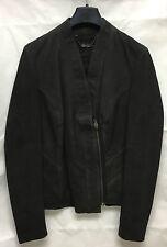 Muubaa Women's Limited Edition Leather Black Blazer Zip Jacket. RRP £299. UK 8.