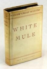 Signed First Edition William Carlos Williams 1937 White Mule A Novel HC w/DJ
