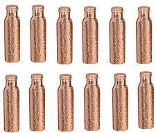 Traveller's 100 % Copper Health Benefits Water Bottle set of 12 Hammered Bottles