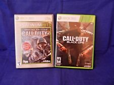 Lot of 2 XBox 360;Call of Duty 2 Spec. ED w/Bonus DVD,C of D Black OPS, Complete