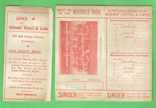 #D472. 1904 Sydney V Combined Country Rugby Union Program