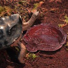 Reptile Turtle Feeder Food Water Feeding Bowl Resin Aquarium Ornament Scorpion