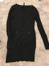 BCBG MAXAZRIA Women's Lambs Wool Cashmere Black  Sweater Dress Small S GUC $298
