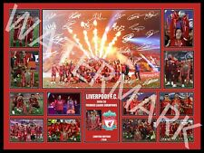 LIVERPOOL FC 2019 - 2020 EPL PREMIER LEAGUE CHAMPIONS SIGNED & FRAMED FREE POST