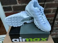 Nike Air Max 95 Triple White Men's Shoe Trainers - All Sizes