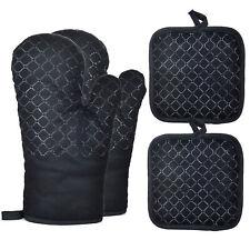 Oven Mitts Pot Holders 4pcs Set Oven Gloves Potholder Heat Resistant For Kitchen