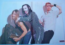 "MARILYN MANSON / IGGY POP Centerfold magazine POSTER  17x11"""