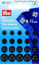 Prym 20 Druckknöpfe zum Annähen 6-11 mm schwarz 341271