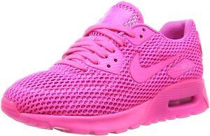 Original Womens Nike  Air Max 90 Ultra BR Trainers Hyper Violet  725601 600