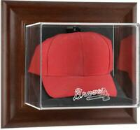 Atlanta Braves Brown Framed Wall- Logo Cap Case - Fanatics