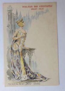 """Künstlerkarte, Palais du Costume, Moyen-Age XIV"" 1900 ♥"